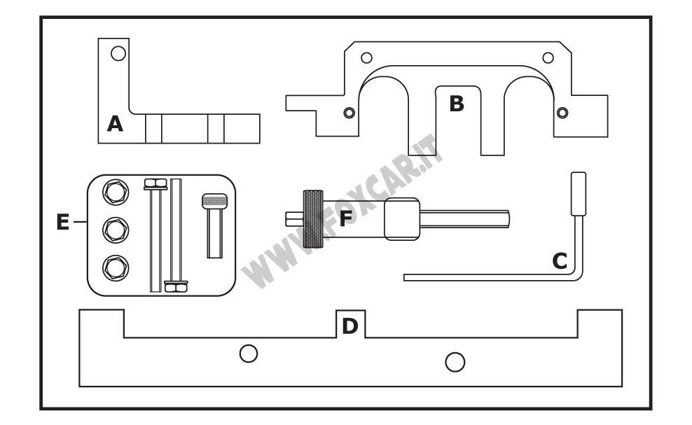 attrezzi messa in fase motore bmw e81 e46 e90