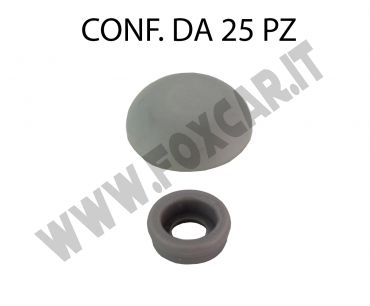 Coprivite in plastica per vite autofilettante con testa Ø max 6 mm Ø esterno cappuccio   18 mm