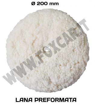 Disco in lana preformata bianca per la lucidatura 200 mm