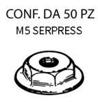 Dadi serpress con finta rondella M5