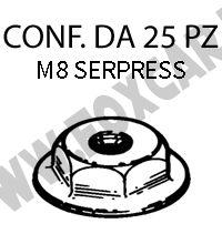 Dadi serpress con finta rondella M8