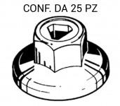 Dado in plastica con esagono da 10 mm per fissaggi rivestimenti vari s...