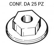 Dado in plastica con esagono da 10 mm per fissaggi modanature su Opel ...