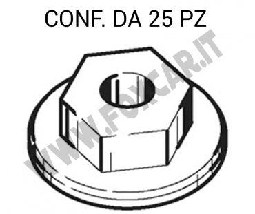 Dado in plastica con esagono da 10 mm per fissaggi modanature su Opel Corsa