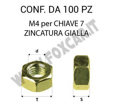 Dadi M4 zincati gialli