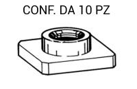 Dado M8 a forma quadra con lato 20 x 20 mm per fissaggio paraurti su F...