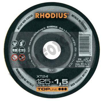 Disco da taglio Rhodius per alluminio, spessore 1,5 mm e diametro 115 mm