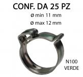 Fascette clic-clac in acciaio inox da Ø min 11 mm a Ø max 12 mm Ø c...