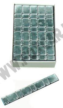 Barretta adesiva contrappesi 5/10 gr in ferro zincato in confezioni da 100 pezzi