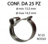 Fascetta tipo clic clac in acciaio inox da Ø min 13,5 mm a Ø max 14,...
