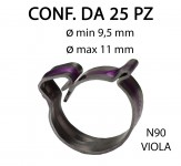 Fascetta clic clac in acciaio inox con diametro minimo di 9,5 mm a mas...