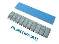 Contrappesi adesivi plastificati equilibratura ruote gomma 10/10 gr in...
