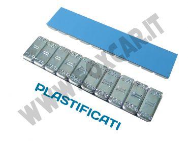 Contrappesi adesivi plastificati equilibratura ruote gomma 10/10 gr in ferro zincato