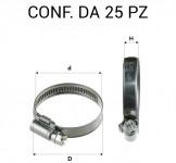 Fascetta in acciaio a vite. Ø 80-100 mm fascia 9 mm
