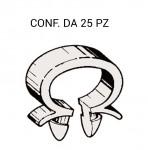 Fascetta in plastica a omega per fissaggio cablaggi Ø massimo 8 mm co...