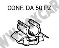 Fascetta in plastica per fissaggio cofano motore Renault Twingo