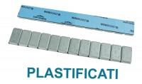 Barretta adesiva contrappesi plastificati 5/5 Gr in ferro zincato da 1...