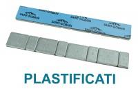 Barretta adesiva contrappesi plastificati 5/10 gr in ferro zincato