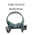 Fascette stringitubo a collare in acciaio 10 12 mm