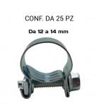 Fascette stringitubo a collare in acciaio 12 14 mm