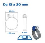 Fascette stringitubo ABA misure 12 20 mm