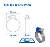 Fascette stringitubo ABA misure 16 25 mm