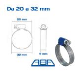 Fascette stringitubo ABA misure 20 32 mm