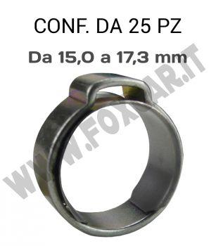 Fascette pinzabili a orecchio da 15,0 a 17,3 mm e banda 7 mm