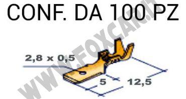 Capicorda Faston masc. piccolo (2.8mm)