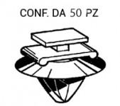 Graffetta fissaggio modanatura fiancata mascherina e profili su Fiat I...