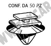Fissaggio modanatura colore Bianco per Modanatura Fiancata Fiat Multipla in confezione da 14 pezzi