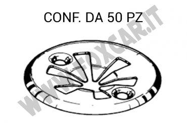 Piastrina metallica per fissaggio carter protezione motore