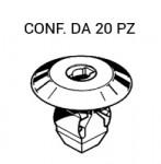 Blocchetto di fissaggio tasca porta oggetti Fiat Punto