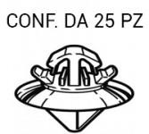 Fermo di fissaggio per modanatura su Citroen C4, Fiat Scudo, Peugeot E...