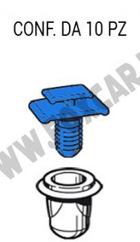Fermo, graffa con boccola per fissaggio modanatura laterale Fiat Scudo