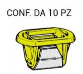 Molletta di fissaggio in plastica di colore giallo e acciaio per fari ...