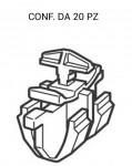 Fissaggio mascherina e profili Opel Astra