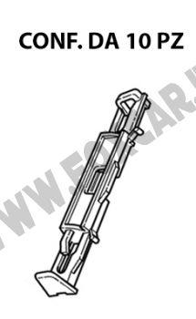 Graffetta in plastica per il fissaggio modanatura cornice cristallo parabrezza Citroen   C 5 e Peugeot 508