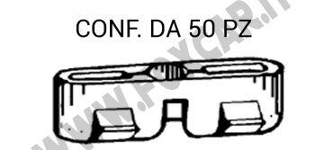 Graffetta fissaggio modanatura canalina tetto montata su Fiat e Lancia vari modelli