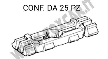 Graffetta in plastica per il fissaggio modanatura canalina tetto su Volkswagen,   Porsche, Audi