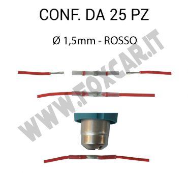 Giunti termosaldanti, per cavi elettrici fino a Ø 1,5 mm colore rosso