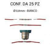 Giunti termosaldanti, per cavi elettrici fino a Ø 0,8 mm colore bianc...