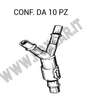 Giunto tergi 3 vie con valvola di ritegno tubo da 4 mm per Fiat