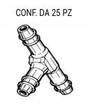 Giunto tergi a 3 vie per tubo Ø 4 mm