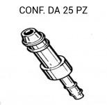 Giunto tergi per tubo da 4 mm e 2,5 mm