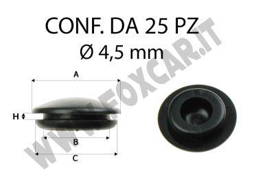 Gommino copri fori di 4,5 mm