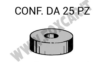 Gommino distanziale altezza 6 mm e diametro interno da 6 mm