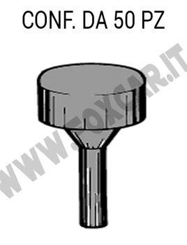 Gommino distanziale per supporto targa, altezza testa 6,5 mm