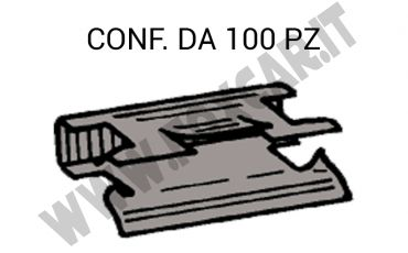 Graffetta fissaggio zoppa con dentino, tipo guisnap, zincatura nera
