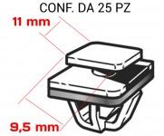 Graffetta per il fissaggio modanatura e fascioni laterali su Hyundai e...